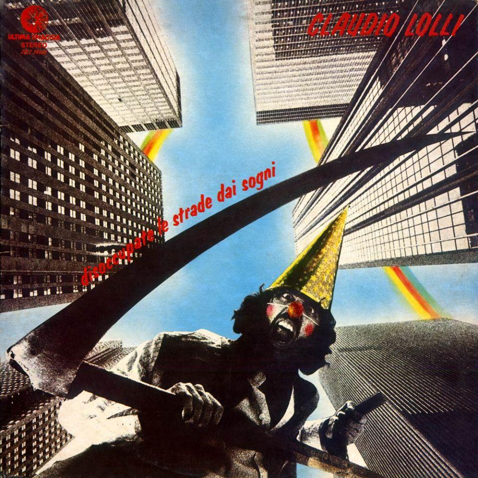 La copertina di «Disoccupate le strade dai sogni» di Claudio Lolli (1977)
