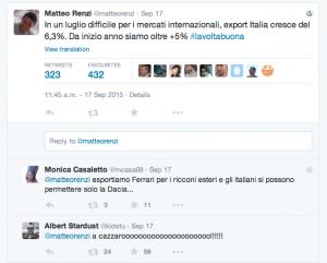 Renzi e la politica trolling sulla competività italiana