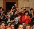 Studenti applaudono