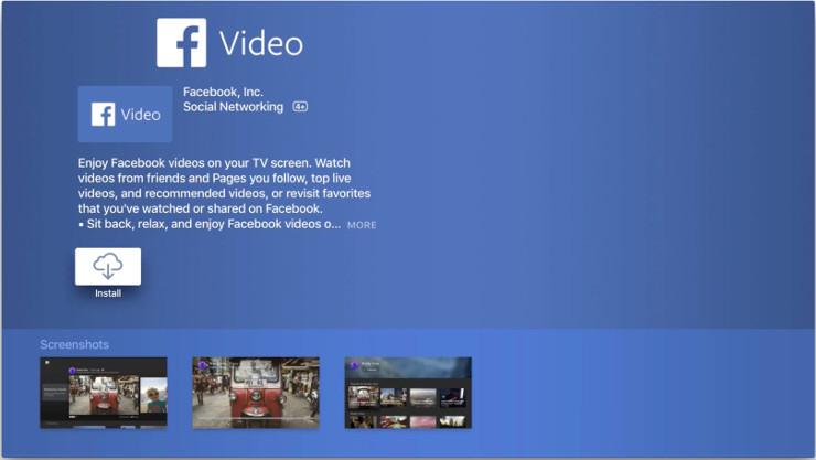 La app Facebook TV