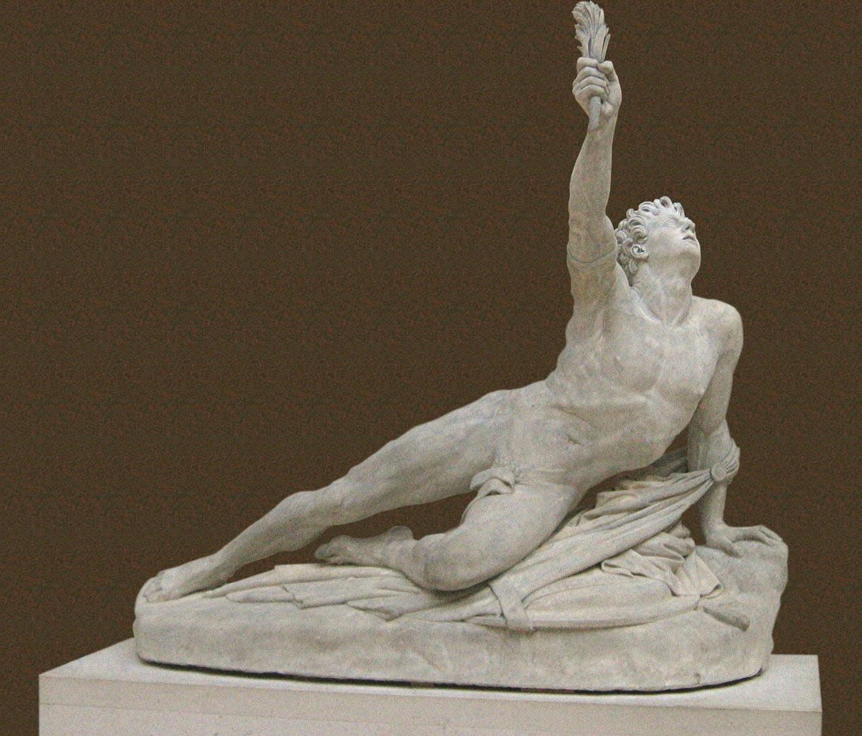 statua di filippide simbolo di resistenza