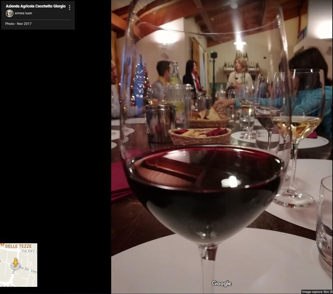 foto bicchiere di vino Raboso in azienda agricola
