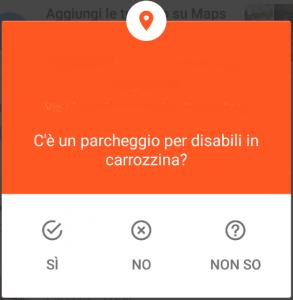 domanda google su presenza parcheggi per disabili
