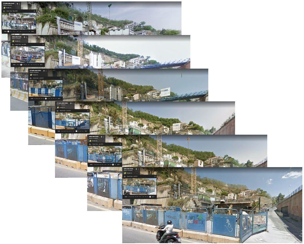 street view su un cantiere di Napoli