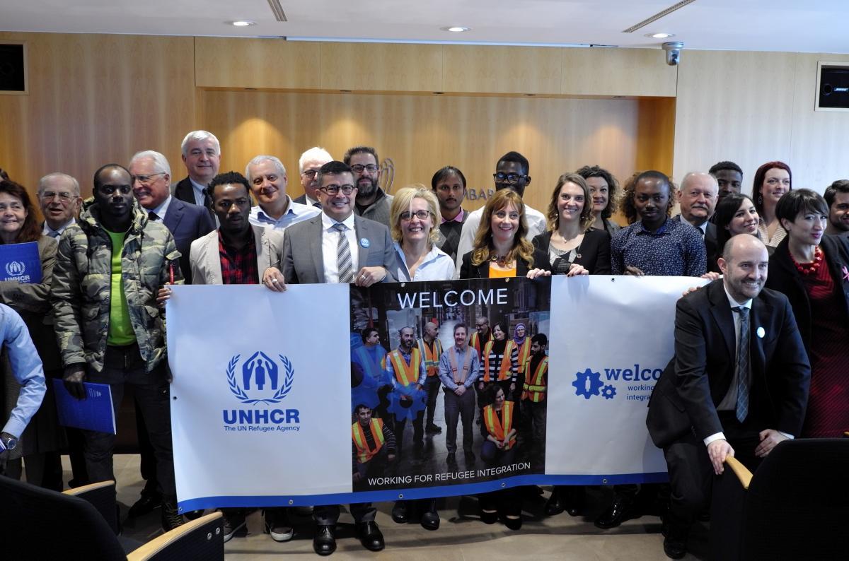 Premiazione del progetto Welcome dell'UNHCR