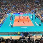 Una partita dei Mondiali di volley 2018