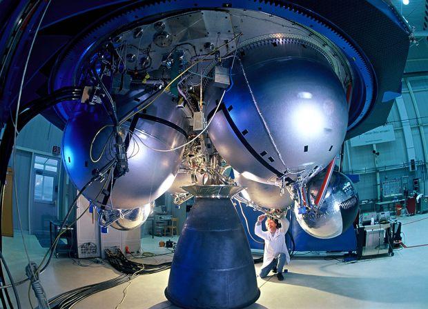 La sonda Bepi, pronta a partire per lo spazio.