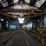 Una fabbrica abbandonata nel Piceno.