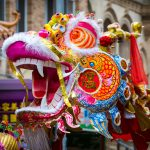 Un drago del capodanno cinese: senza dubbio made in China