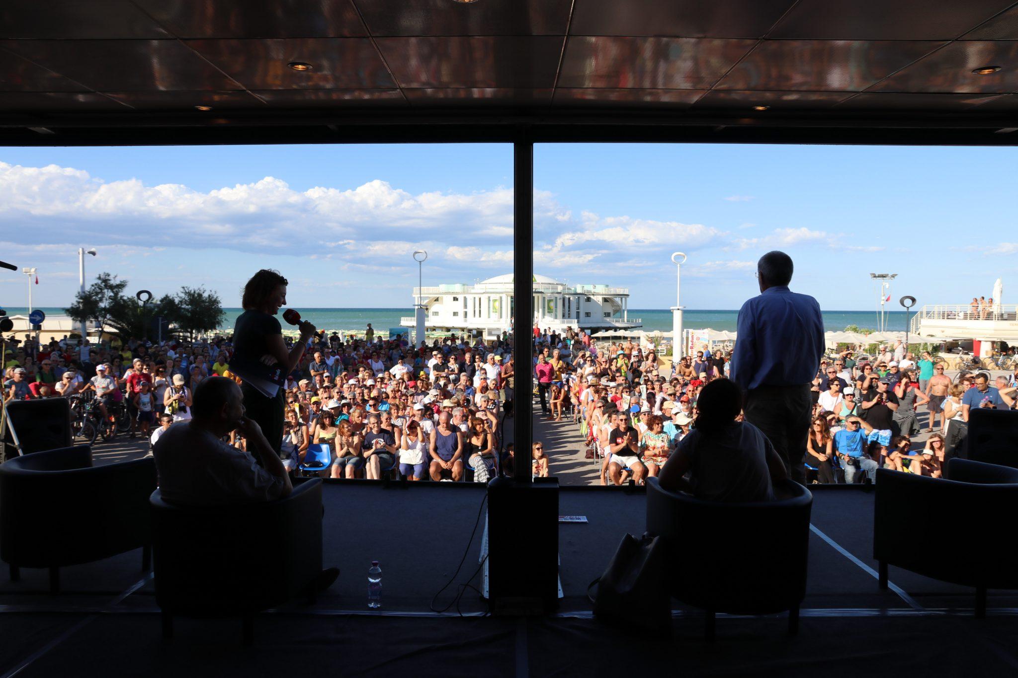 Una foto dal palco del CaterRaduno di Senigallia.