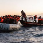 Migranti in mare salvati dai volontari della Mare Jonio.