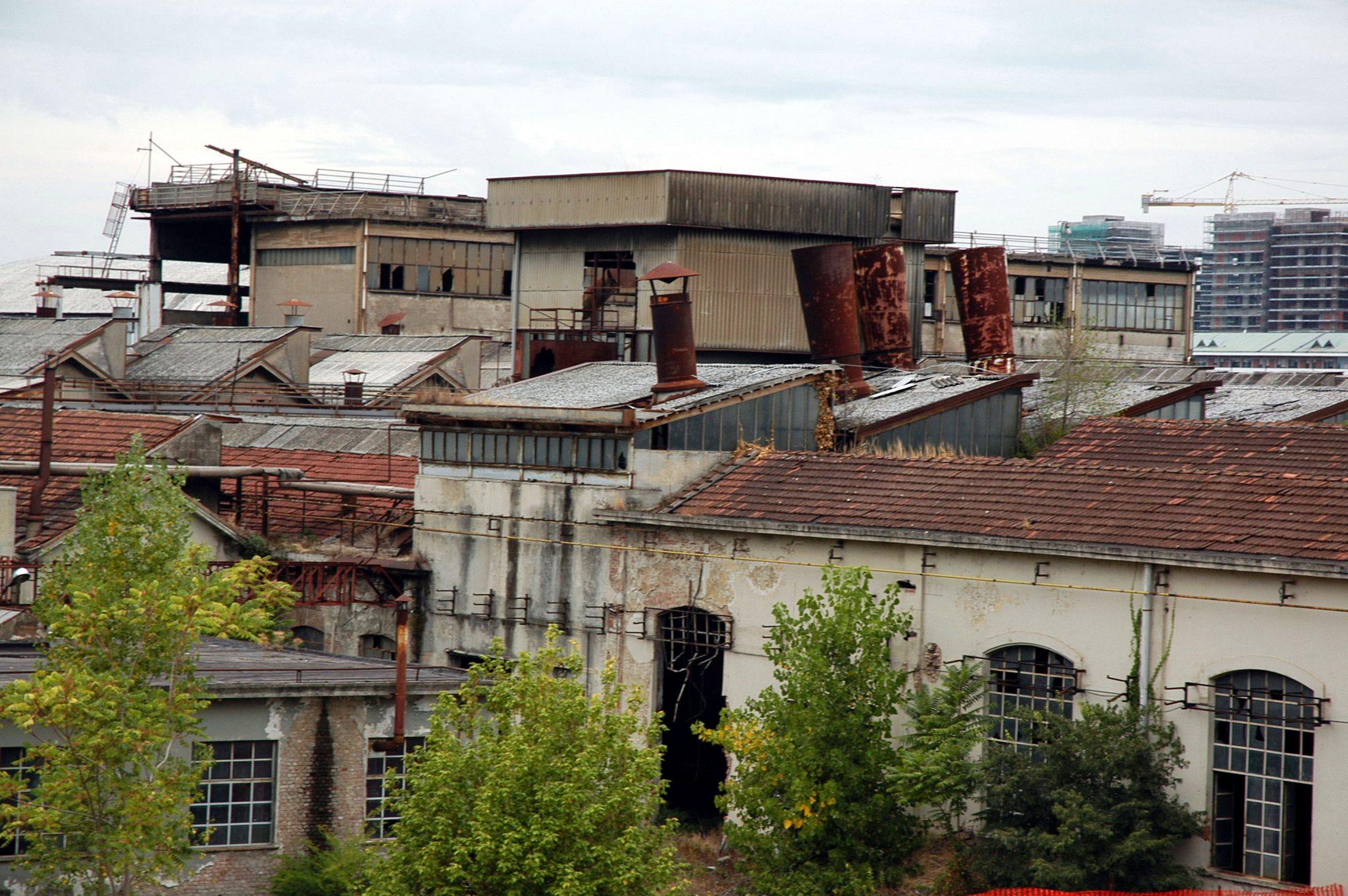 Un'immagine dell'area che ancora oggi ospita l'ex Necchi