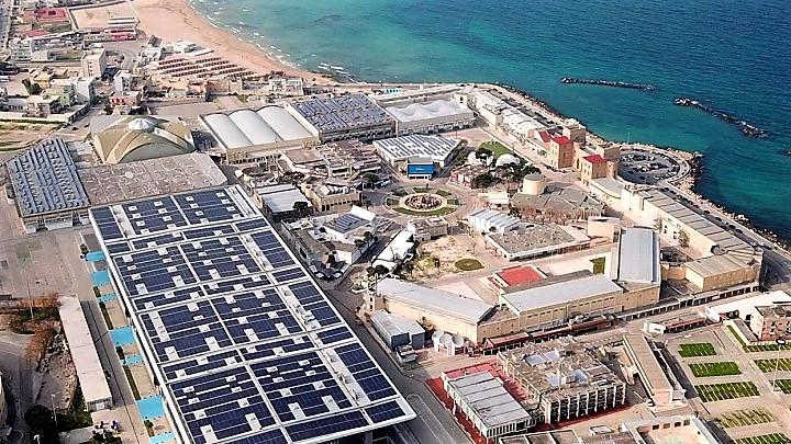 Il complesso della Fiera del Levante, a Bari.