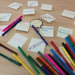 Dei foglietti con scritte le parole chiave per il futuro dei giovani emiliano-romagnoli, ma non solo