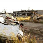 Un capannone distrutto dal terremoto in Emilia