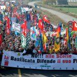 Una manifestazione pacifica a Scanzano Jonico