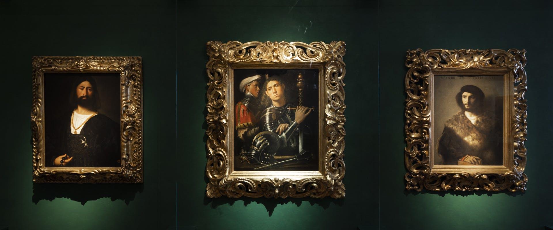 Dei quadri dalla Galleria degli Uffizi, da poco entrato a far parte dei musei online e su social.