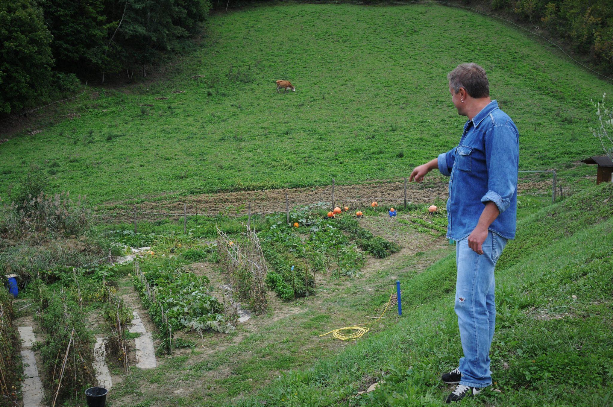 Un campo coltivato nella Comunità di San Ruffino