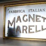 L'insegna di Magneti Marelli, una vittima delle crisi industriali italiane
