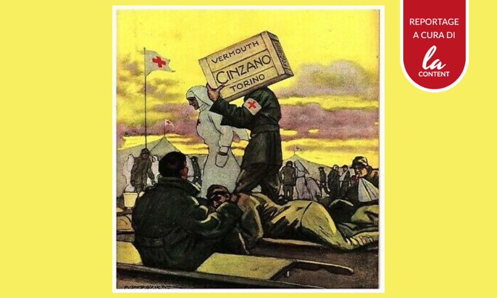 Pubblicità in emergenza: l'immagine di una pubblicità bellica della Cinzano.