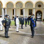 Il generale della guardia di finanza Sicilia, Riccardo Rapanotti, durante una cerimonia in periodo COVID.