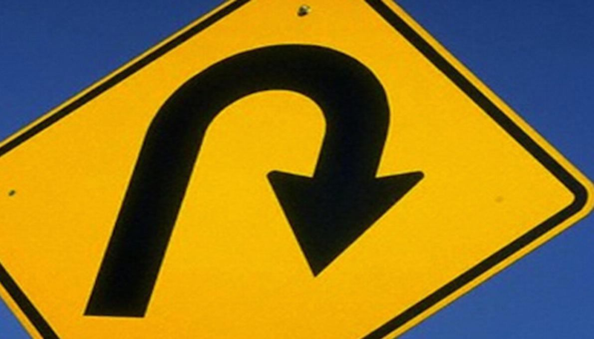 Rivoluzione delle Benefit Corporation: un cartello che segnala un'inversione di marcia.