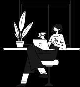 donna bianco e nero vignetta