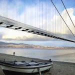 Un'immagine ideale del Ponte sullo Stretto di Messina.