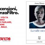 """La copertina de """"La valle oscura"""" di Anna Wiener."""