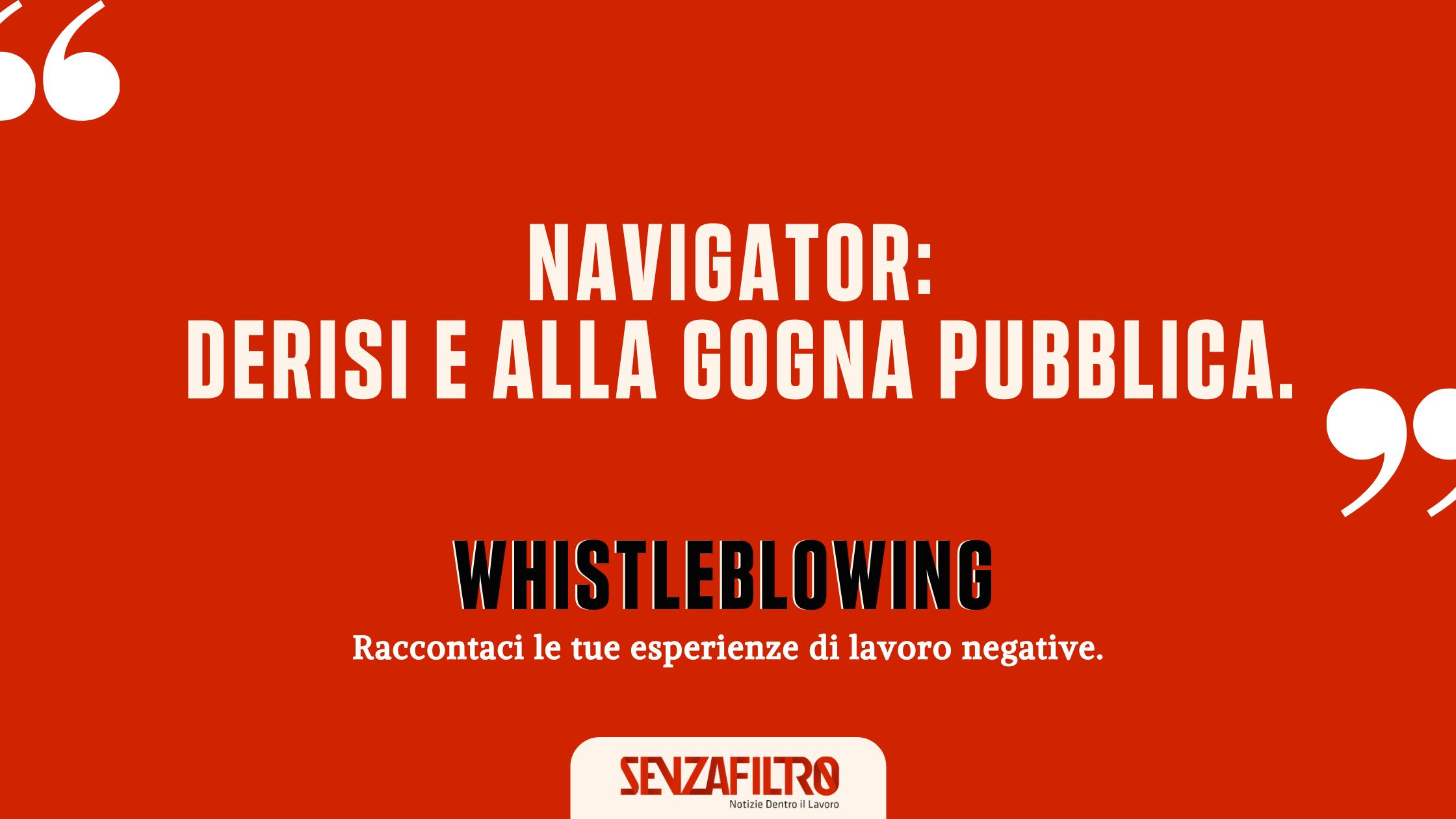 """Whistleblowing: """"Noi navigator lavoriamo da un anno senza normative né strumenti"""""""