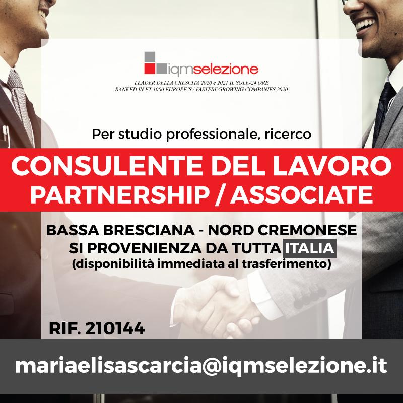 Consulente del Lavoro – Partnership Associato