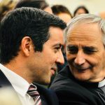 """L'assessore Marco Lombardo e l'arcivescovo Matteo Maria Zuppi, coautori del progetto """"Insieme per il lavoro"""""""